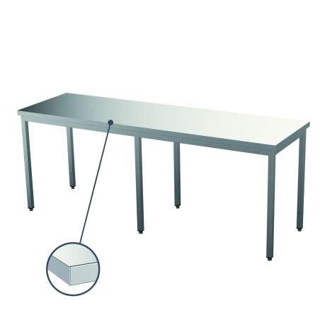Tables ouvertes démontées...